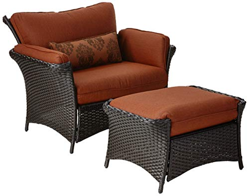 Hanover STRATHALLURE2PC-P STRATHALLURE2PC Strathmere Allure 2-Piece Steel Seating Set Outdoor Furniture, Rust/Espresso