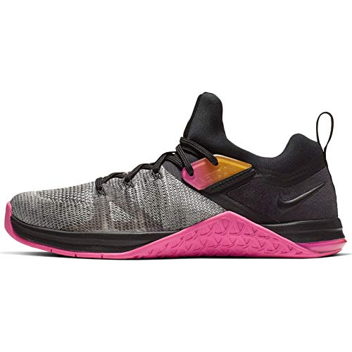 Nike Womens Metcon Flyknit 3 Running Trainers AR5623 Sneakers Shoes (UK 6 US 8.5 EU 40, Black Laser Fuchsia 002)