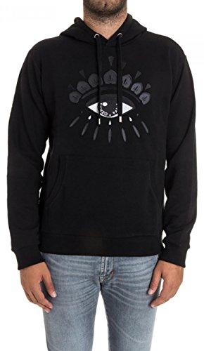 Kenzo Ögontröja män svart hoodie 100 % bomull, Svart, S