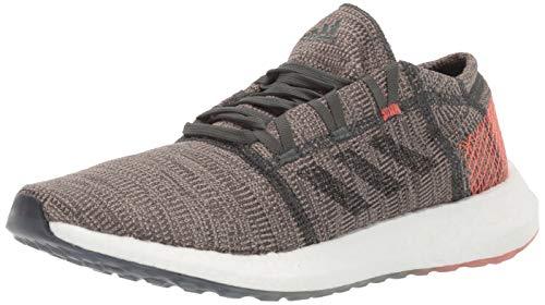 adidas Men's Pureboost Go Running Shoe, Legend Ivy/Black/True Orange, 8.5 M US