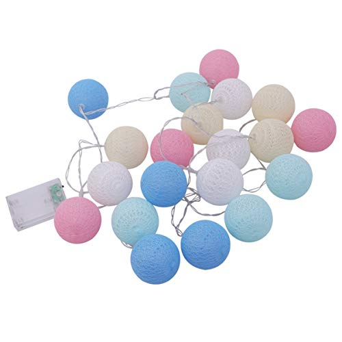 ledmomo LEDストリングライト コットンボールストリングライト LED電球 誕生日 パーティー 装飾 花火会 窓 ...