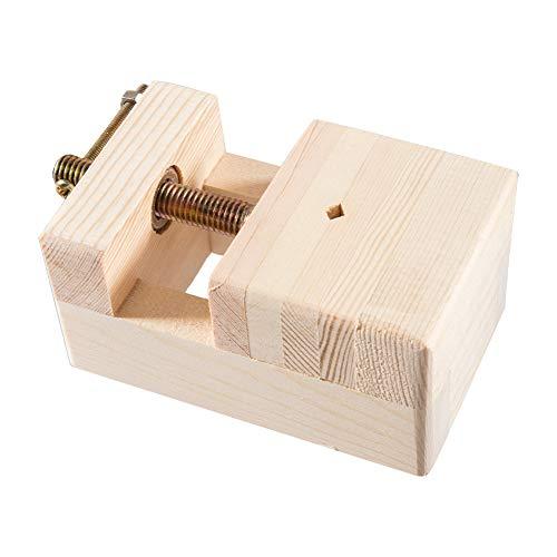 PandaHall 1 juego de herramientas de trabajo de madera, mini alicates planos, abrazadera de rosca, banco de mesa, para tallado de madera, 113,5 x 65,5 x 50 mm