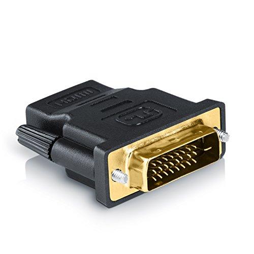 CSL - Adattatore HDMI a DVI - connettore DVI-D 24 e 1 Male su Presa HDMI- Full HD - 1080p - Videoproiettore PS3 e Molto Altro