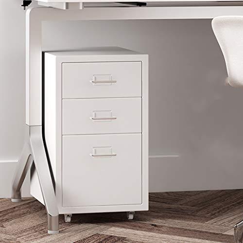 3 gesloten ladekasten, witte lades set systeembox vak voor gegevens 280 × 410 × 485 mm 1.0mm thickness