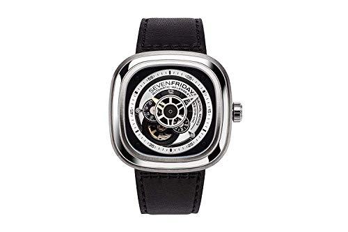 Sevenfriday orologio P1–1uomo orologio da polso al quarzo nero