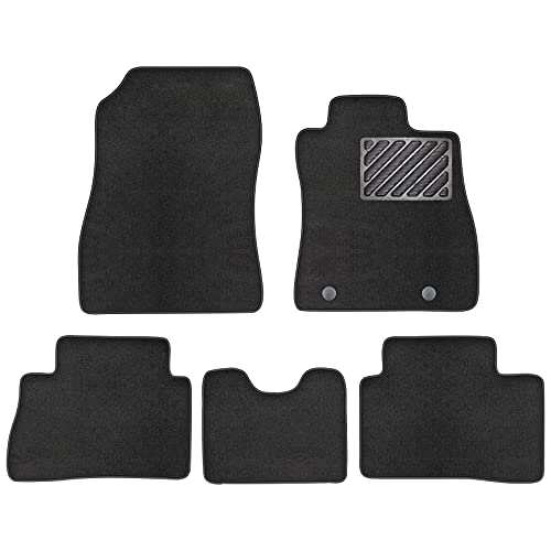 zecober Car Mats Fit Nissan Juke 2010-2019 F15 with Rubber Heelped Tailored Deluxe Car Floor Mats Velour Carpet Set of 5 Pieces Accessories For 2011 2012 2013 2014 2015 2016 2017 2018 2019