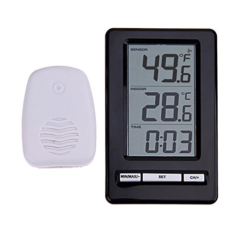 NOENNULL Digital Therm-ometer,TS-WS-47 Wireless Digital Indoor Outdoor Thermo-meter,Fast Readings Best Digital Baby Therm-ometer