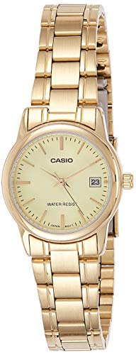Casio Analog Uhr mit Leder Armband LTP-V002G-9A