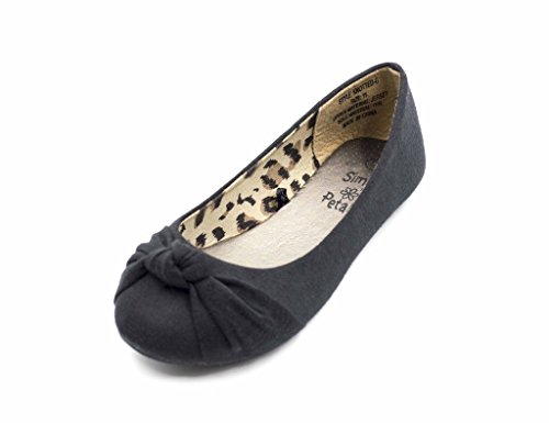 Simply Petals Casual Slip On Knotted Ballerina Flat (Toddler/Little Girl) New in Black Size: 1 Little Kid M