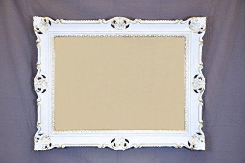 Miroir Mural Baroque xxl Miroir Noir-Doré Brillant 90x70 Antique Cadre