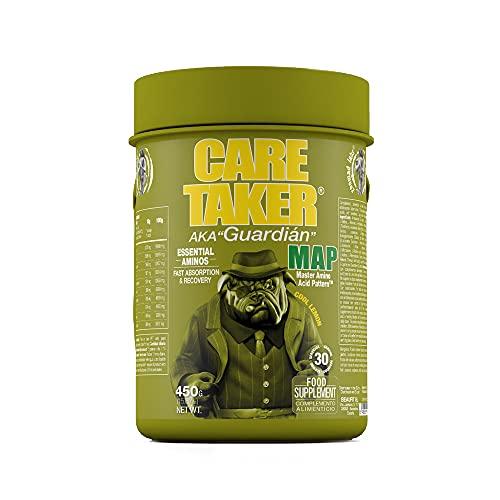 Caretaker MAP - Master Amino Acid Pattern - 9 Aminoácidos Esenciales en Polvo - Ganancia Muscular Fuerza y Resistencia - 450 gr (Cool Lemon)