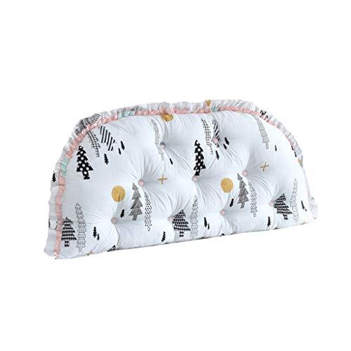 Shengluu Reading Pillow Bolster Pillow Waist Belt Bed Cushion Cotton Headboard Soft Case Big Back Double Bed Pillow Sofa Back Cushion (Color : D, Size : 150x65cm)