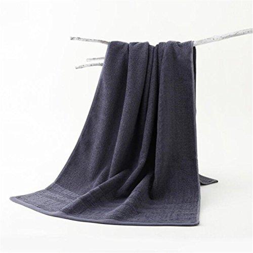 MJHZ Einfaches Baumwollbadetuch-Schwimmenbad-saugfähiges Tuch, Blau