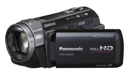 Panasonic HDC-SD800EGK Full HD Camcorder (SD-Kartenslot, 12-fach opt. Zoom, 7,6 cm (3 Zoll) Touch-Display, Bildstabilisator, 3D kompatibel) schwarz