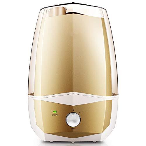 WFL 5.7L Umidificatore a Nebbia, Muto, Purificazione, Spegnimento Automatico, Macchina per Aromaterapia, Elettrodomestico, Ecografi Aria Condizionata,Oro,Centimetro