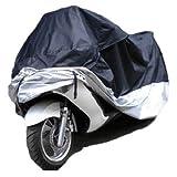 本気で愛車を守りたい 4XL 雨 風 防水 防塵 UVカット 盗難防止 専用収納袋付 黒 シルバー バイクカバー ビックスクーター 2XL 3XL 4XL XXL XXXL XXXXL