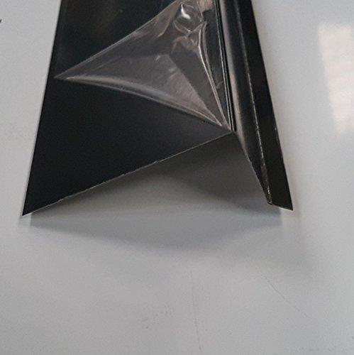200 cm Ortgangblech Zuschnitt 200mm Alu Anthrazit Ral 7016Kantblech Dachblech Winkelblech Dachprofil Ortgang 2000mm