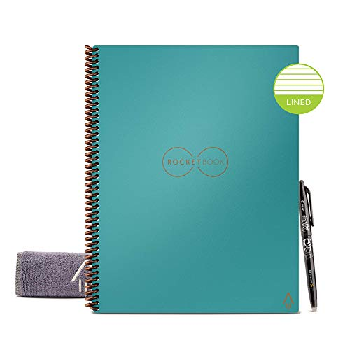 Rocketbook Smart Reusable Notebook - Lined Eco Friendly...