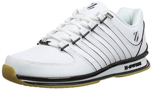 K-Swiss Herren RINZLER SP Sneaker, Weiß (White/Black/Gum 168), 43 EU