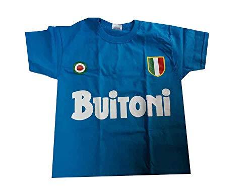 New t-Shirt Maglia Maglietta ricordo Maradona BUITONI Scudetto Omaggio Portachiavi (M Adulto)