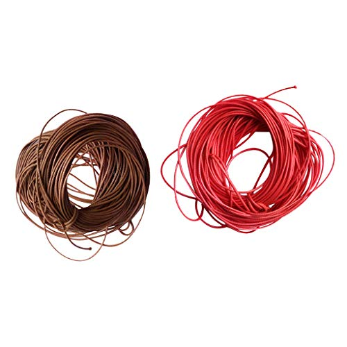 CUTICATE 2X Hilo de Cordón Encerado Rebordear DIY Encanto Collar Cuerda Cadena Fabricación de Joyas