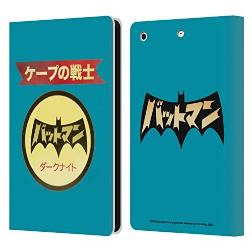 Head Case Designs Oficial Batman DC Comics Logotipo japonés Moda Vintage Carcasa de Cuero Tipo Libro Compatible con Apple iPad Mini 1 / Mini 2 / Mini 3