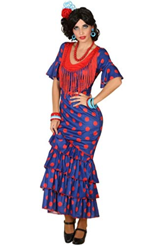 ATOSA disfraz flamenca azul mujer adulto XL