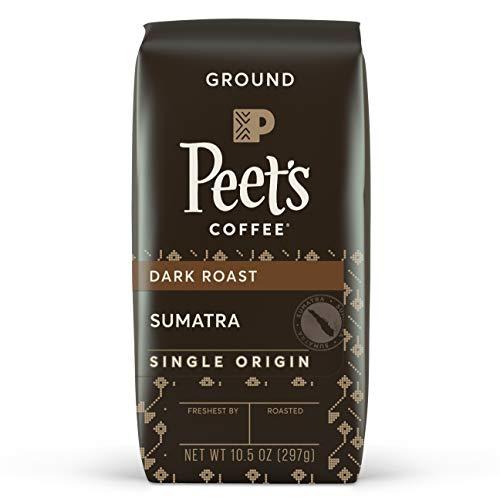 Peets Coffee Single Origin Sumatra Dark Roast Ground Coffee 105 oz