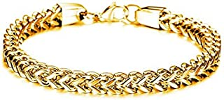 stainless Steel Cool Gold Chain Men Bracelet GS671