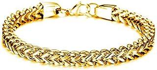 سوار ذهبي مصنوع من ستانلس ستيل ذو شخصية أحسن هدايا للرجال  موديل GS671