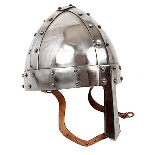 Warrior Point,18 Gauge Medieval Norman Helmet + Liner LARP SCA Collectible Armour