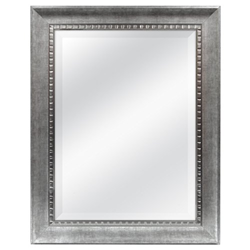 MCS 18x24 Inch Sloped Mirror, 23.5x29.5 Inch Overall Size, Silver -