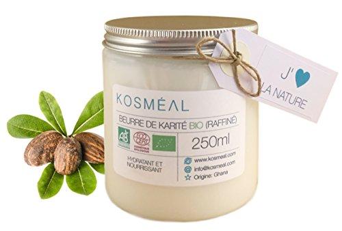 Beurre de Karité BIO Raffiné - Certifié Agriculture Biologique (AB) et ECOCERT - 250ml