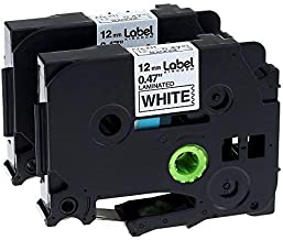 Label KINGDOM 2 Pack Replace P-Touch Label Tape Compatible with Brother PTouch (TZ231 TZe231) Standard Laminated TZe Tapes, Black on White, 0.47 Inch (12mm) x 26.2 Feet (8m)
