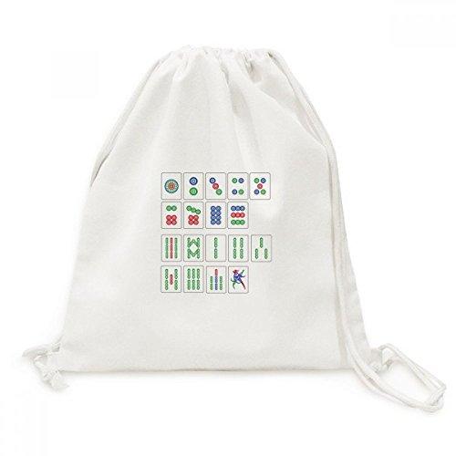 DIYthinker Chinesische Kultur Mahjong Schach-Spiel Canvas-Rucksack Reisen Shopping Bags