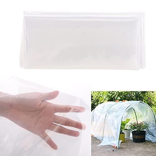 SUFUBAI Gewächshausfolie, Gewächshausabdeckung Kunststoff Garten Klar PE Kunststoffabdeckungen für Frostschutz UV beständig