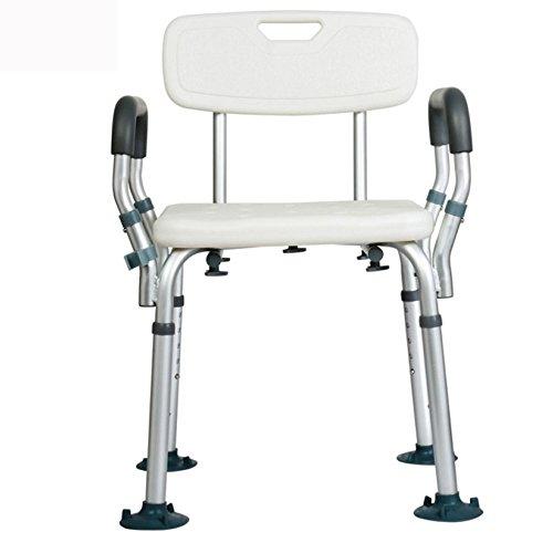 LIULIFE Duschsitz Alter Mann Bad Dusche Stuhl Anti-Rutsch-Hocker Multifunktions-Badezimmer Aluminiumlegierung Sicherheit Hilfsmöbel,D