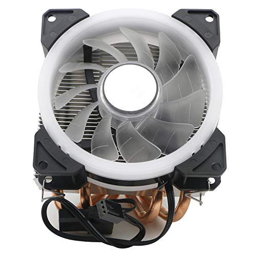 JIUWU Desktop Air Cooler CPU Fan 4 Direct Contact Heat Pipes, Blue LED for Intel AMD Small Chassis CPUs 92mm Fan (775 1150 1155 1151 1156)