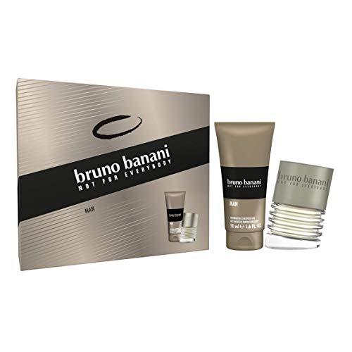 Coty Beauty Germany GmbH, Consumer Bruno banani man premium geschenkset - belebendes eau de toilette und duschgel mit aromatisch-orientalischem duft - für den modernen mann - 1 x 30 ml & 1 x 50 ml