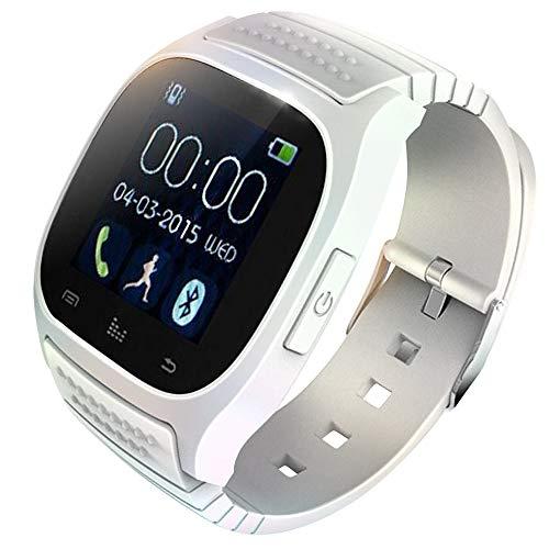 KawKaw M26 Fitness Smartwatch Wasserdicht mit Alarm und Schrittzähler - Fitnesstracker, Laufuhr oder Sportuhr für Damen, Herren (kompatibel mit Android und iOS) (Weiß)