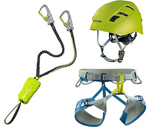 EDELRID Klettersteigset Cable Kit Lite 5.0 + Gurt Jay III Größe S + Kletter-Helm