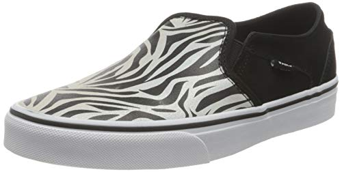 Vans Asher, Sneaker Mujer, (Metallic Zebra) Black/White, 37 EU