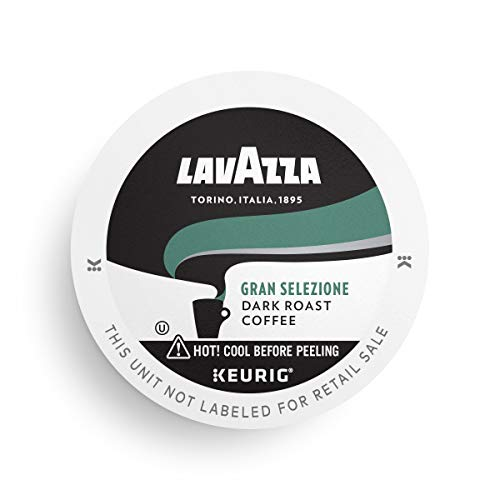 Lavazza Gran Selezione Single-Serve Coffee K-Cups for Keurig Brewer, Dark Roast, 10-Count Boxes (Pack of 6) Authentic Italian, Value Pack, 100% Arabica, Rainforest Alliance Certified