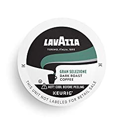 Lavazza Gran Selezione Single-Serve Coffee K-Cup Pods for Keurig Brewer, Dark Roast, 16-Count Box, B