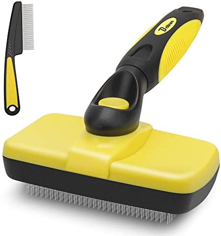 BRILLIARE Self Cleaning Slicker Brush Free Stainless Steel Comb Easy to Clean Dog Brush Retractable product image