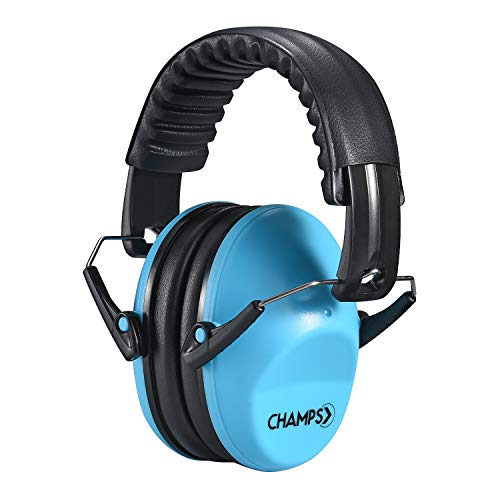 Kids Ear Muffs, Champs Baby Earmuff Noise Protection Reduction Headphones for Toddlers Kid Children Teen NRR 25dB Safety Hearing Ear Muff Shooting Range Hunting Season [Blue]