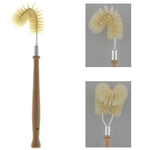 Kosmetex - Spazzola per pulizia bordi con manico, scopa per WC