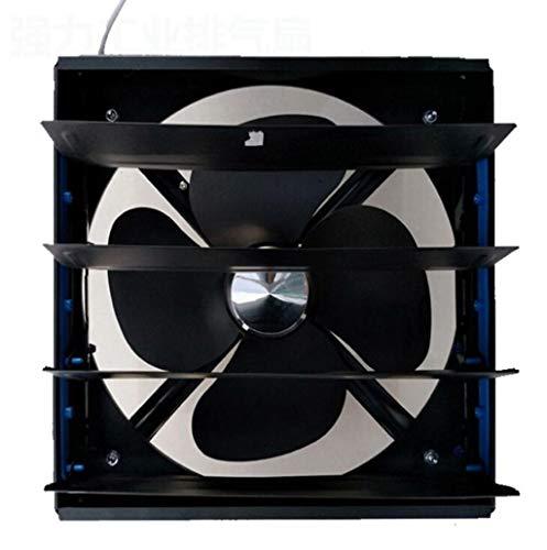 排気ファンルーバー排気ファン強力な排気ファン家庭用換気扇キッチンの浴室やガレージファンで使用可能 (Color : Black, Size : Diameter 250)
