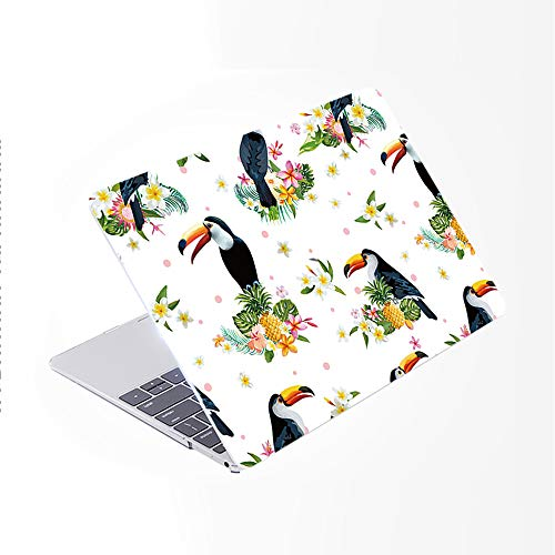 SDH Newest for MacBook Pro 13 inch Case 2020 Release Touch Bar & ID Model: A2338/A2289/A2251, Plastic Pattern Hard Shell & Laptop Sleeve Bag & Keyboard Cover Skin 4 in 1 Bundle, Flamingo 9