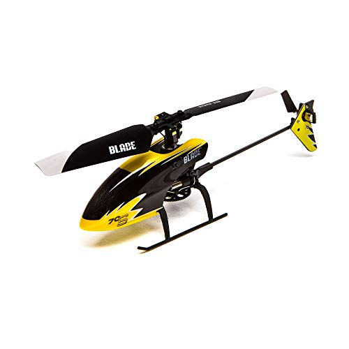 Blade 70 S RTF RC Micro Helicopter with Safe Technology | 2.4Ghz Transmitter | Battery | Charger (Yellow/Black)
